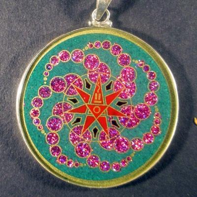 Alchemy malachite 02 Gemstone Pendant