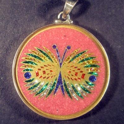 Butterfly rhodochrosite 02 Gemstone Pendant
