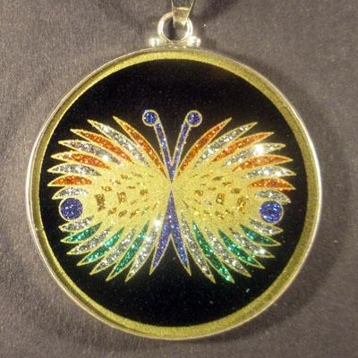 Butterfly tourmaline 05 Gemstone Pendant