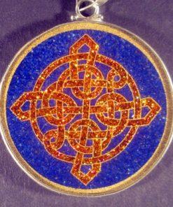 Celtic Knot Lapis Luzuli 02 Gemstone Pendant