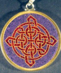 Celtic Knot charoite 01 Gemstone Pendant