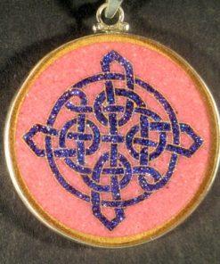 Celtic Knot rhodochrosite 01 Gemstone Pendant