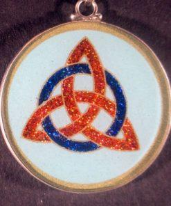 Celtic Trinity Turquoise 02 Gemstone Pendant