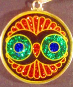 Cosmic Owl tourmaline 01 Gemstone Pendant
