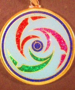 Dolphins Turquoise 05 Gemstone Pendant