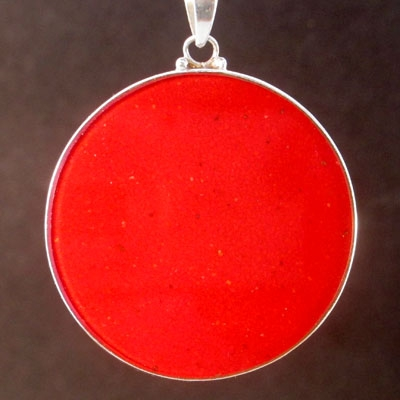 Dolphins coral 03 Gemstone Pendant