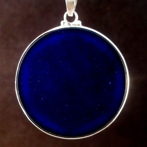 Dolphins lapis lazuli 04 Gemstone Pendant