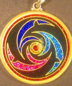 Dolphins tourmaline 08 Gemstone Pendant