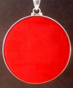 Double Gateway coral 01 Gemstone Pendant