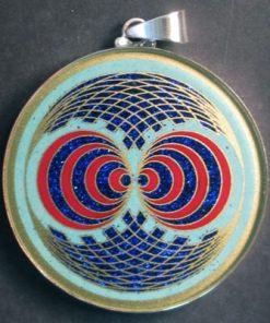 Double Gateway turquoise 02 Gemstone Pendant