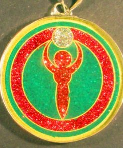 Goddess Malachite 03 Gemstone Pendant