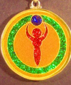 Goddess camel agate 02 Gemstone Pendant
