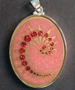 Julius Set Rhodochrosite 01 Gemstone Pendant