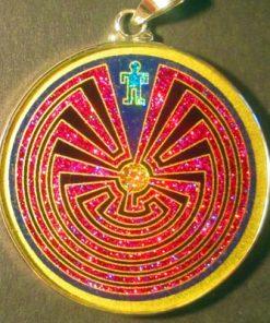 Man in the Maze Lapis Luzuli 02 Gemstone Pendant