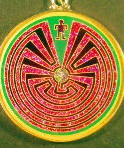 Man in the Maze Malchite 03 Gemstone Pendant