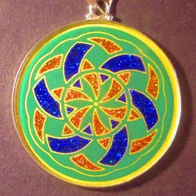 Manifesting malachite 03 Gemstone Pendant
