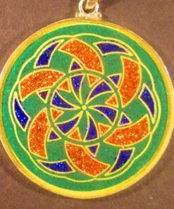 Manifesting malachite 06 Gemstone Pendant