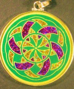Manifesting malachite 07 Gemstone Pendant