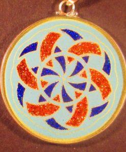 Manifesting turquoise 03 Gemstone Pendant