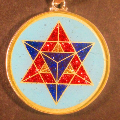 Merkaba Turquoise 02 Gemstone Pendant