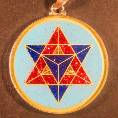 Merkaba Turquoise 04 Gemstone Pendant