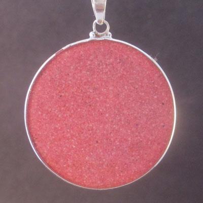 Pentagon Spirals rhodochrosite 01 Gemstone Pendant