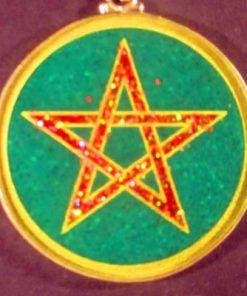 Pentagram Malachite 02 Gemstone Pendant