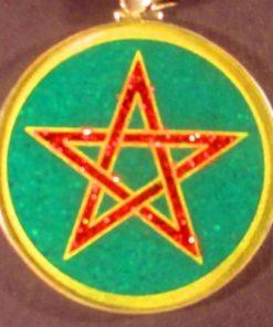 Pentagram Malachite 03 Gemstone Pendant