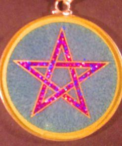 Pentagram aqua marine 01 Gemstone Pendant