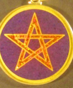 Pentagram charoite 01 Gemstone Pendant