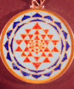 Sri Yantra turquoise 01 Gemstone Pendant