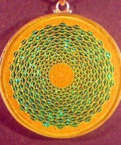 Sunflower camel agate 01 Gemstone Pendant