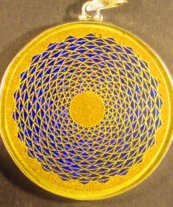 Sunflower camel agate 02 Gemstone Pendant