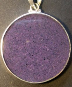 Sunflower charoite 01 Gemstone Pendant