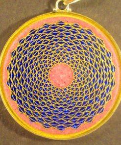 Sunflower rhodchrosite 01 Gemstone Pendant