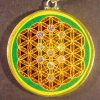 Tree of Lifez in FOL malachite 04 Gemstone Pendant