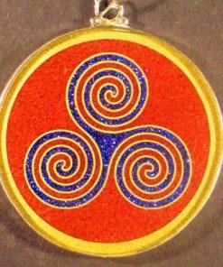 Triple Goddess Red Jasper 02 Gemstone Pendant