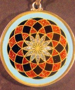 Tube Torus turquoise 01 Gemstone Pendant