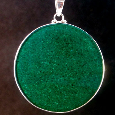 Blossoming malachite 02 Gemstone Pendant