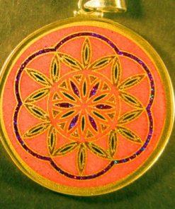 Blossoming rhodochrosite 01 Gemstone Pendant
