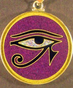 Eye of Horus charoite 01 Gemstone Pendant