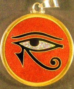 Eye of Horus red jasper 02 Gemstone Pendant