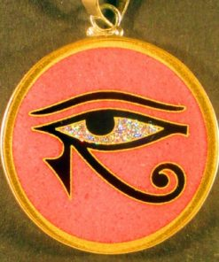 Eye of Horus rhodochrosite 02 Gemstone Pendant