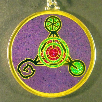 Fourth Dimension charoite 01 Gemstone Pendant