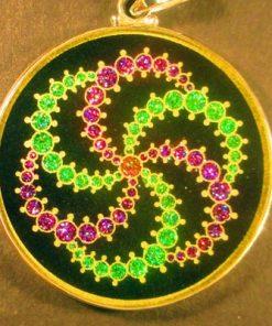 GalaxyTourmaline 05 Gemstone Pendant