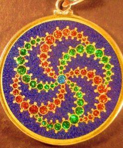 Galaxy lapis lazuli 02 Gemstone Pendant