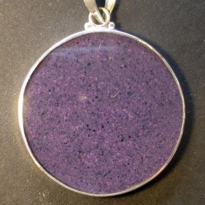Goddess charoite 01 Gemstone Pendant