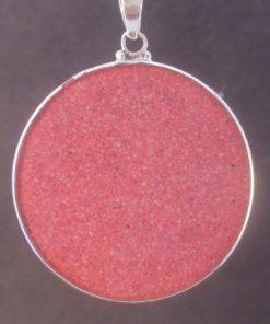 Hamsa rhodochrosite 01 Gemstone Pendant