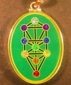 Tree of Life malachite 06 Gem Pendant