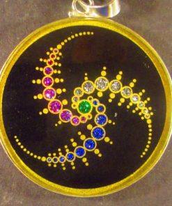 Triple Julius Set Tourmaline 04 Gemstone Pendant